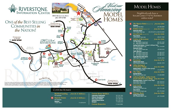 Riverstone Model Home Map